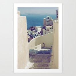 Santorini Stairs IV Art Print