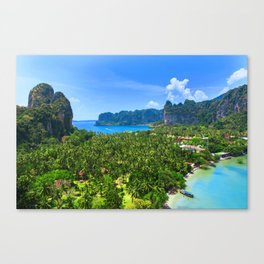 Palm Tree Tropical Thailand Island Bay Canvas Print