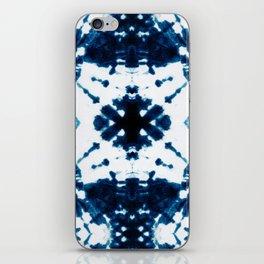 Velvet Shibori Blue iPhone Skin