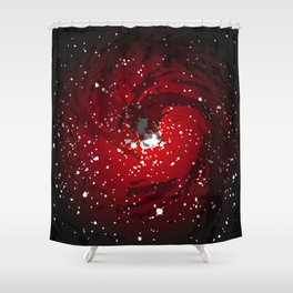 Black Hole Background Shower Curtain