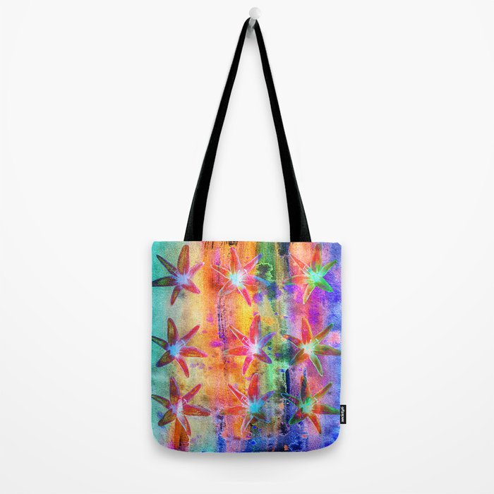 Colorful Lilies Tote Bag