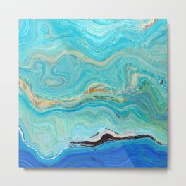 Texture nature garmonia sea 8 Metal Print