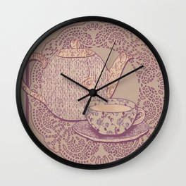 tea cup pink edition  Wall Clock