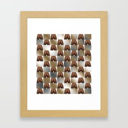 Butt Board Framed Art Print