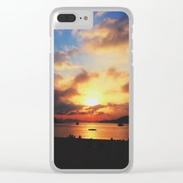 Sunset; Cloud Explosion Clear iPhone Case