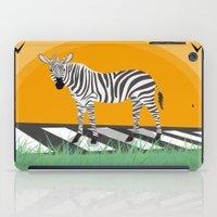 zebra iPad Cases featuring Zebra by Nir P