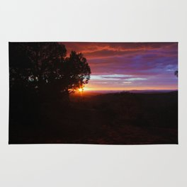 Sunset Over The Canyons Rug