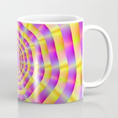 Pink and Yellow Rings Mug