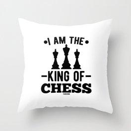 Chess King Queen figure Springer Throw Pillow