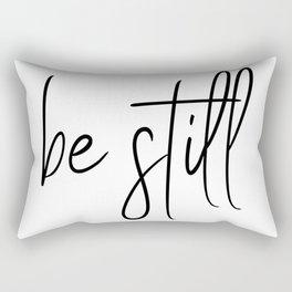 be still Rectangular Pillow