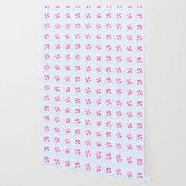 heart 10 – Heart flower –  Pink and blue Wallpaper