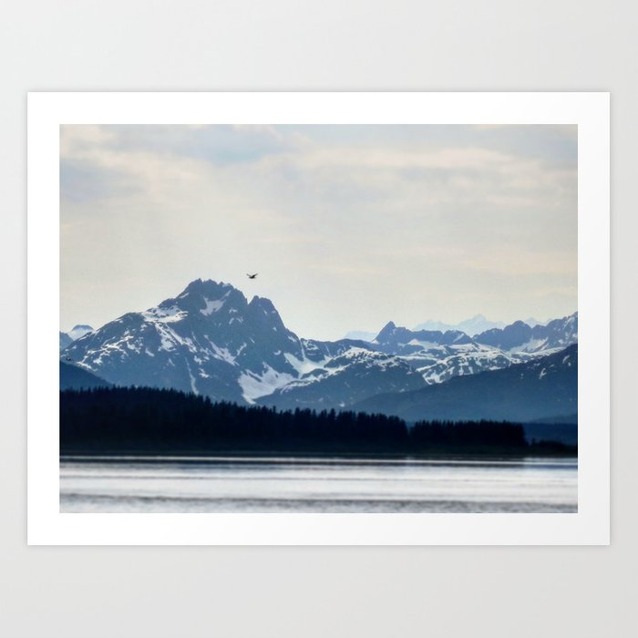 Bird Flying over Alaska Art Print