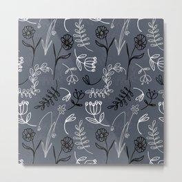 Moody Mod Floral Metal Print