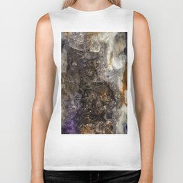 Tiny geode crystal cave #2 Biker Tank