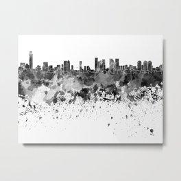 Tel Aviv skyline in black watercolor Metal Print