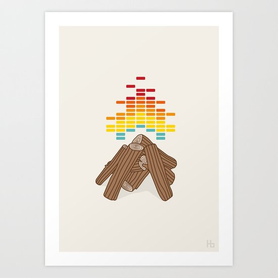 Crackling Fire Art Print