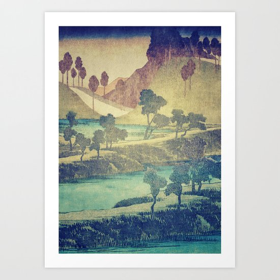 A Valley in the Evening Art Print