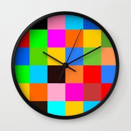 Color patchwork Wall Clock