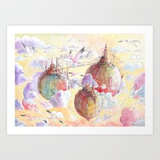Three worlds Art Print
