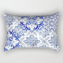 Azulejo VIII - Portuguese hand painted tiles Rectangular Pillow