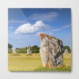 Standing Stones at Lagatjar, Camaret-sur-Mer, Brittany Metal Print
