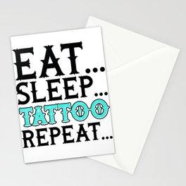 Tattoo Artist Eat Sleep Tattoo Repeat Tattooist Stationery Cards