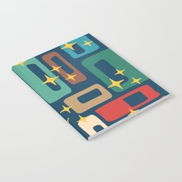Retro Mid Century Modern Abstract Pattern 221 Notebook