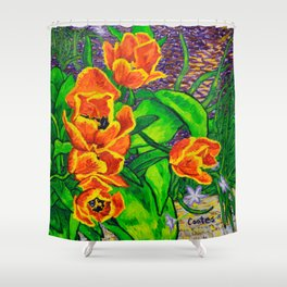 View of Tulips Shower Curtain