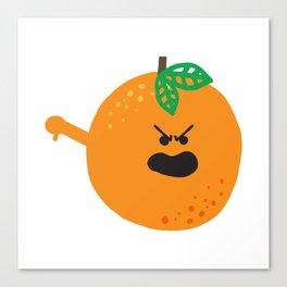 Vulgar Fruit // Obscene Orange Canvas Print