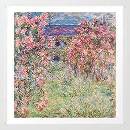 Monet, The House Among The Roses, 1917-1919 Art Print