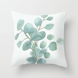 Eucalyptus Silver Dollar Throw Pillow