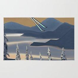Ski Silver Star Rug