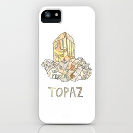 Topaz Gemstone / November Birthstone Watercolor Painting / Illustration iPhone Case