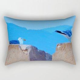 Once upon a time 2 seagulls Rectangular Pillow