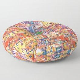Seamless Cinque Terre Floor Pillow