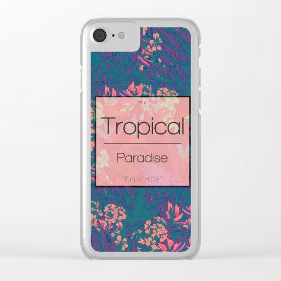 Tropical Paradise: Purple Haze Clear iPhone Case