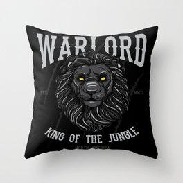 Lion Head Lion Motif Throw Pillow