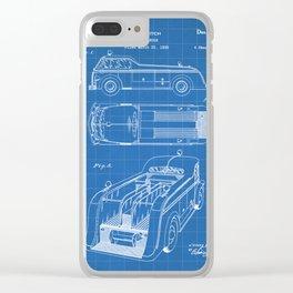 Fire Truck Patent - Fireman Art - Blueprint Clear iPhone Case