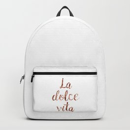 Rose gold La Dolce Vita Backpack