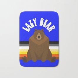 Lazy Bear flag gay bear pride lgbt bears osos gay  Bath Mat