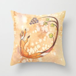 Aesop's Fables - The Fox and the Grapes Throw Pillow