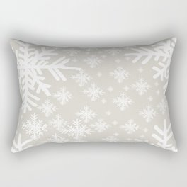 Grey Snowflake Design Rectangular Pillow