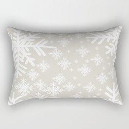 Grey Snowflake Design Rectangular Pillow
