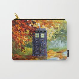 Starry Autumn Blue Phone Box Carry-All Pouch