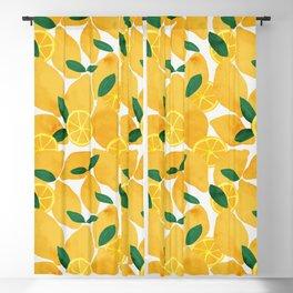 lemon mediterranean still life Blackout Curtain