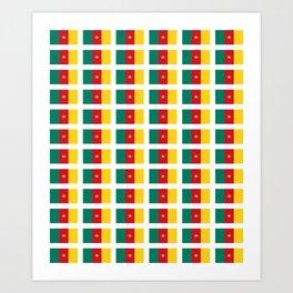 flag of cameroun -cameroun,cameroon,Cameroonian,camerounais,camerun, yaoundé,douala. Art Print