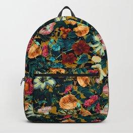 Floral Pattern Winter Garden Backpack