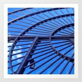 Blue Sky Gate Art Print