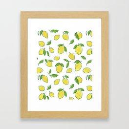 Lemon Leaf Framed Art Print