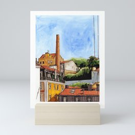 Alfama Buildings Mini Art Print